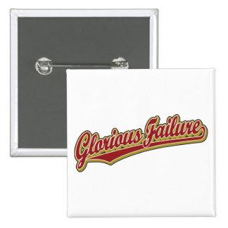 Glorious Failure script logo in red 2 Inch Square Button