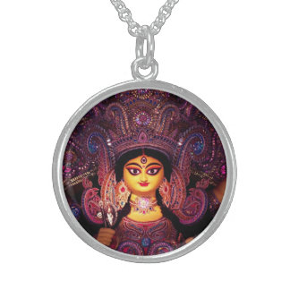Glorious Goddess Durga! Sterling Silver Necklace