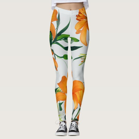 Glorious Golden Lilies Leggings