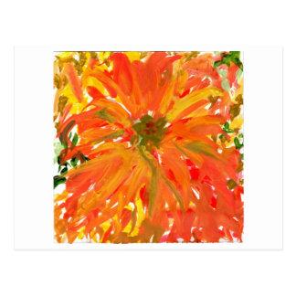 Glorious orange flower postcard