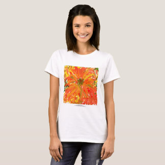 Glorious orange flower women's t-shirt