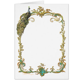 Glorious Peacock Stationery Note Card