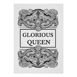 GLORIOUS QUEEN - Positive Statement Quote Poster