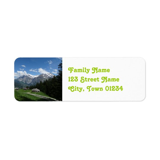 Glorious Switzerland Return Address Label