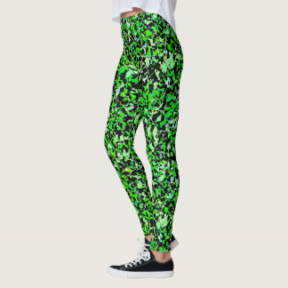 Gloriously Green - Abstract Pattern Leggings