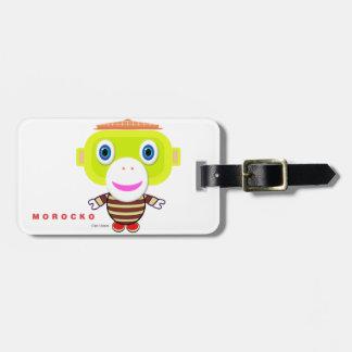 Glory Days-Cute Monkey-Morocko Luggage Tag