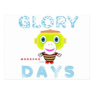 Glory Days-Cute Monkey-Morocko Postcard