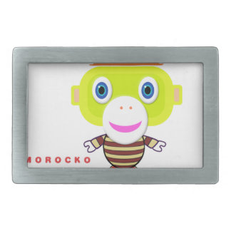 Glory Days-Cute Monkey-Morocko Rectangular Belt Buckles
