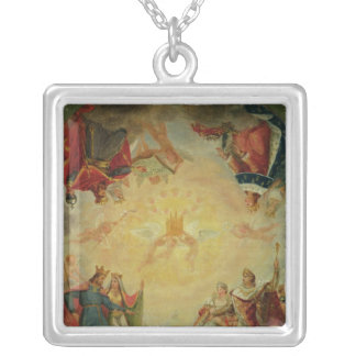 Glory of St. Genevieve Silver Plated Necklace