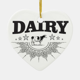 glory of the dairy ceramic ornament