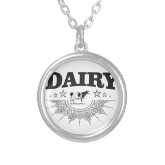 glory of the dairy silver plated necklace