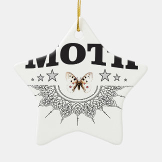 glory of the moth ceramic ornament