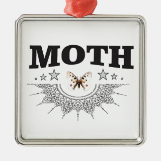 glory of the moth metal ornament