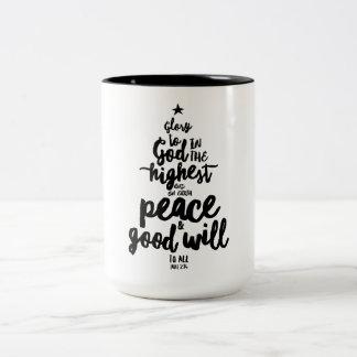 Glory to God Christmas Two-Tone Mug