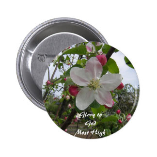 Glory to God Most High 2 Inch Round Button