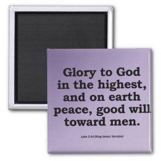 Glory to God on High Christmas Luke 2:14 Magnet