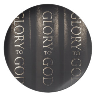 Glory to God Party Plate