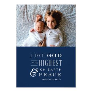 Glory to God Religious Christmas Card