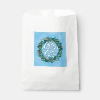 Glory to God Wreath | Christmas Favor Bag