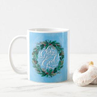Glory to God Wreath | Christmas Mug