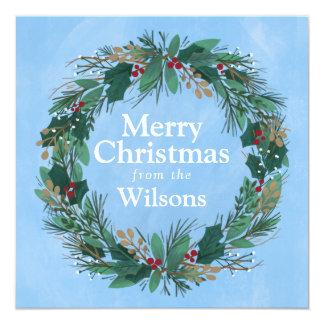 Glory to God Wreath | Square Christmas Card