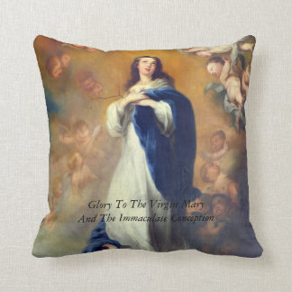 Glory To Mary and the Immaculate Conception Throw Pillow