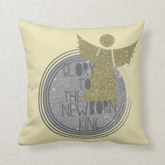 Glory to The New Born King Throw Pillow