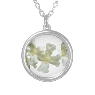 Glory Vine Flowers Silver Plated Necklace