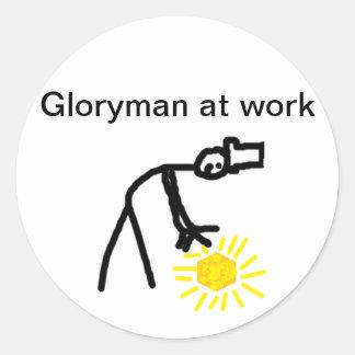 Gloryman at Work Classic Round Sticker