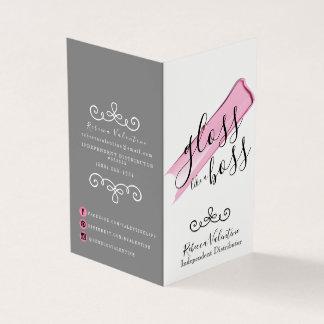 Gloss Like A Boss Lipsense Folded Business Card