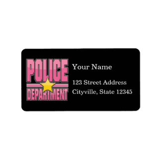 Gloss Pink Police Department Label
