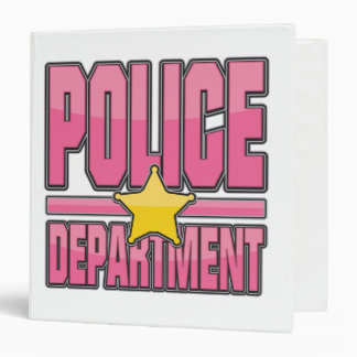Gloss Pink Police Department Vinyl Binder