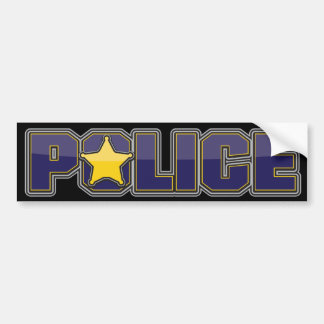 Gloss Police Department Blue with Star Bumper Sticker
