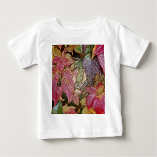 Glossy autumn leaves, Wax-Look 001.1 Baby T-Shirt