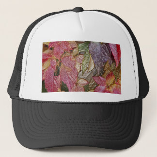 Glossy autumn leaves, Wax-Look 001.1 Trucker Hat