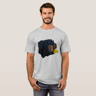 Glossy Blackbird with shimmering feathers   shirt