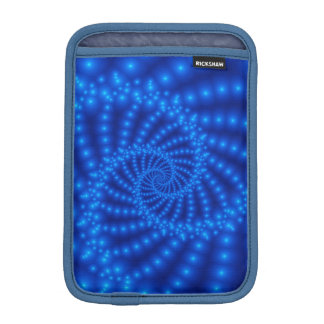 Glossy Blue Spiral Fractal iPad Mini Sleeve