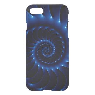 Glossy Blue Spiral Fractal iPhone 7 Case