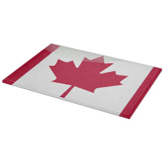 Glossy Canadian flag Cutting Board