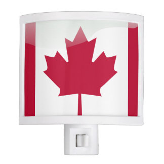 Glossy Canadian flag Nite Light