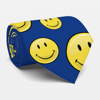 Glossy Classic Yellow Happy Face Tie
