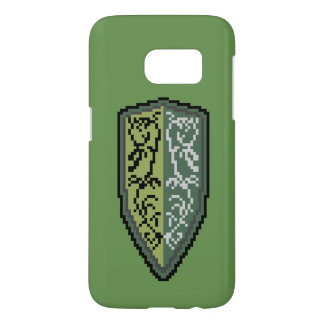 Glossy Crest Of Grass Shield Phone Case S7 Green