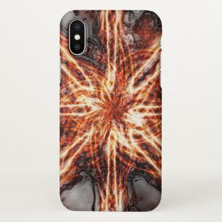 Glossy Dark Flame Vortex iPhone X Case