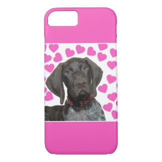 Glossy Grizzly Valentine's Puppy Love Case-Mate iPhone Case
