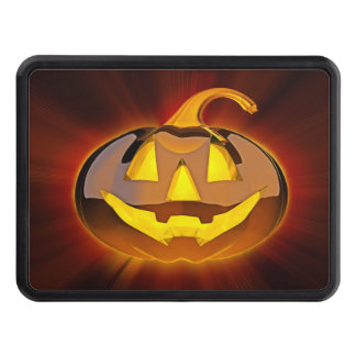 Glossy Halloween Pumpkin Hitch Cover