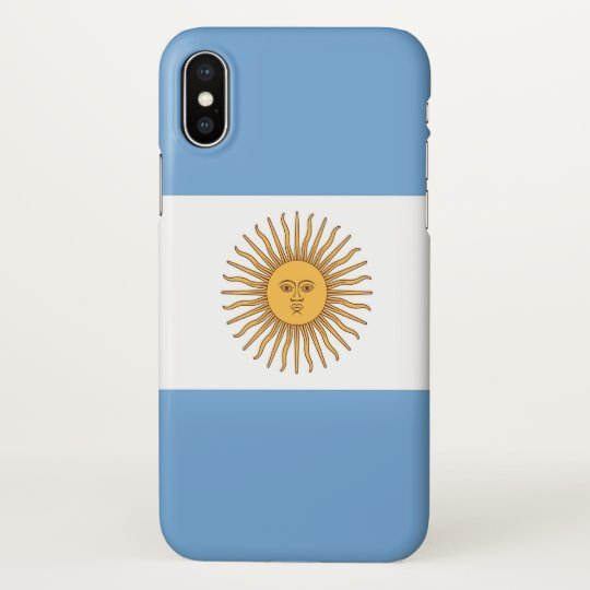 Glossy iPhone Case with Flag of Argentina
