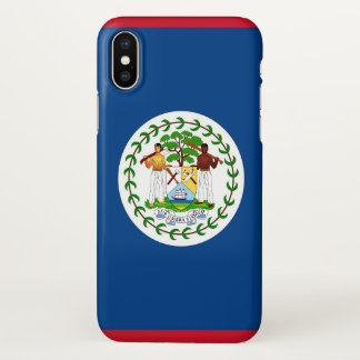 Glossy iPhone Case with Flag of Belize
