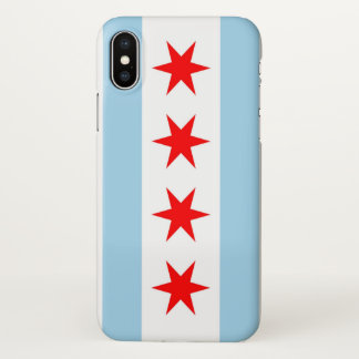 Glossy iPhone Case with Flag of Chicago, USA