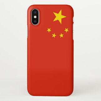Glossy iPhone Case with Flag of China