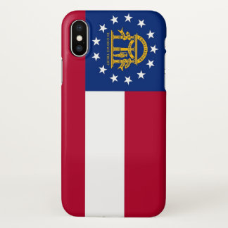 Glossy iPhone Case with Flag of Georgia, USA